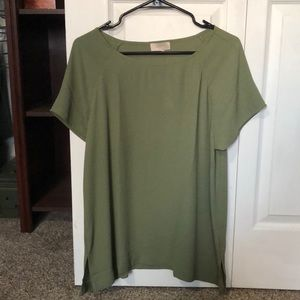 Loft Outlet Olive Green Short Sleeve